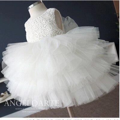 Girls summer dress princess dress flower girl tutu dress girl gift white dress