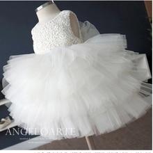 Девушки летнее платье принцессы платье девушки цветка платья балетной пачки девушки подарок белое платье