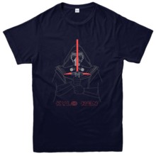 Kylo Ren Lightsaber Lines T-Shirt, Dark Side Star Wars Tee Top Free shipping Print T Shirt Mens Short Sleeve Hot Tops Tshirt cosplay star wars kylo ren electronic lightsaber w light