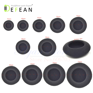 Image 1 - Defean 5 pairs / 10pcs Replacement foam cushion pillow for headphone headset 35mm 40mm 45mm 50mm 55mm 60mm 65mm 70mm 75mm 48mm