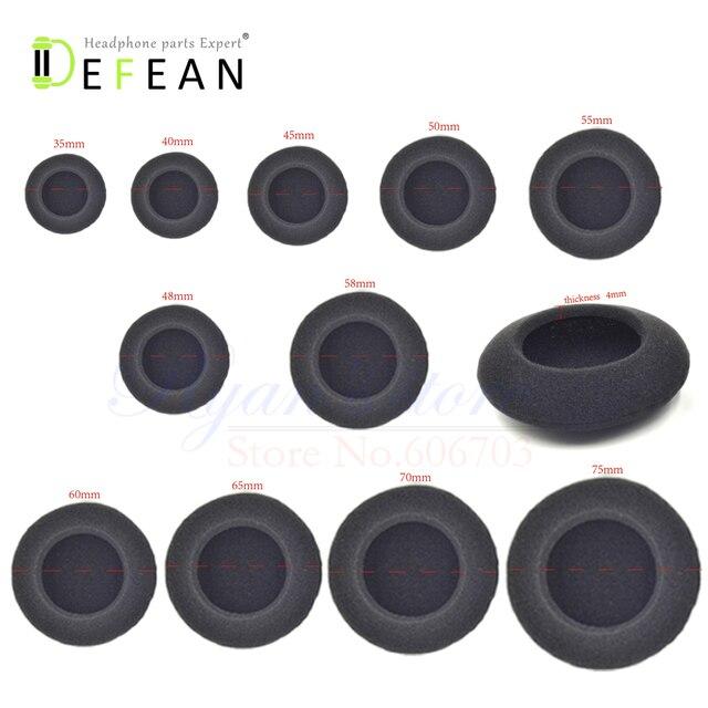 Defean cojín de espuma de repuesto para auriculares, 5 pares/10 Uds., 35mm, 40mm, 45mm, 50mm, 55mm, 60mm, 65mm, 70mm, 75mm, 48mm