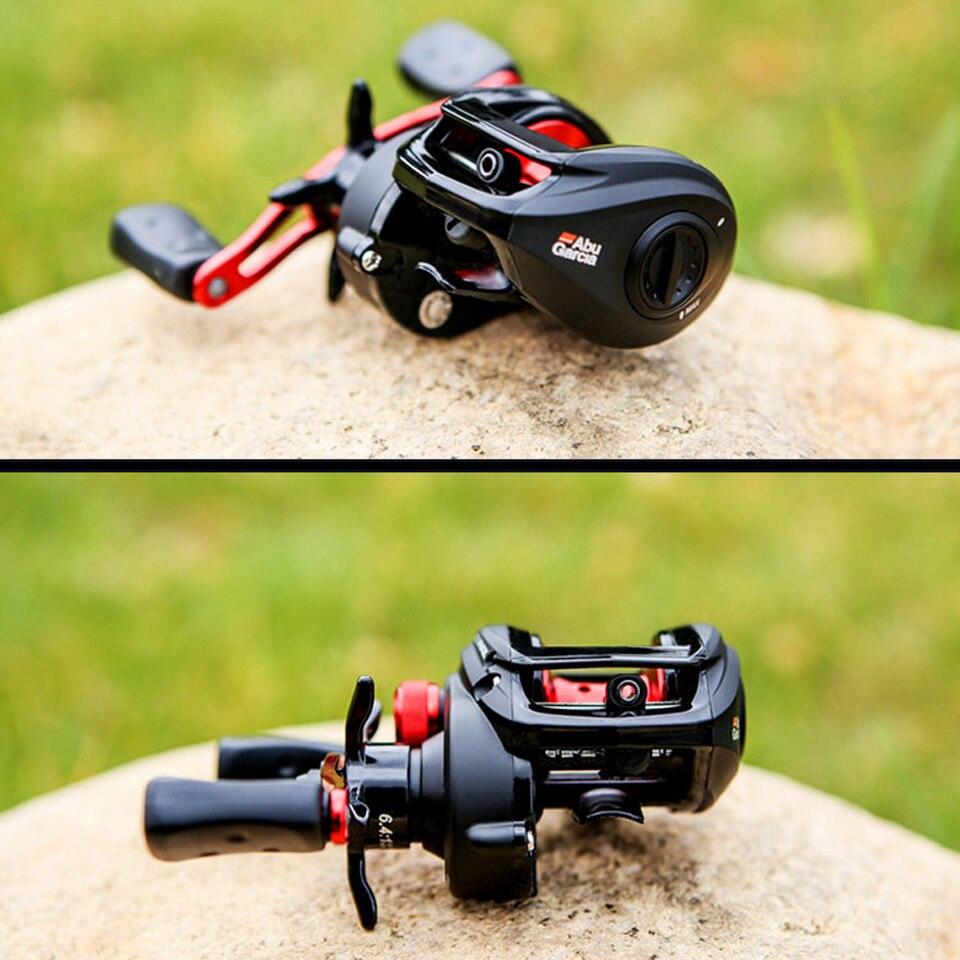 Bobine de pêche à bobine en aluminium droite/gauche Abu Garcia noir Max profil bas BMAX3 bobine de pêche à bobine en aluminium 8 kg - 4