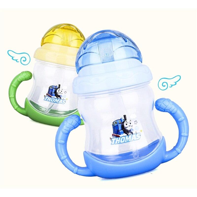 Бутылочки детские бутылки с водой соломы бутылки мультфильм изображение спортивные кормления Бутылка питьевой воды Сиппи Training стакан ...