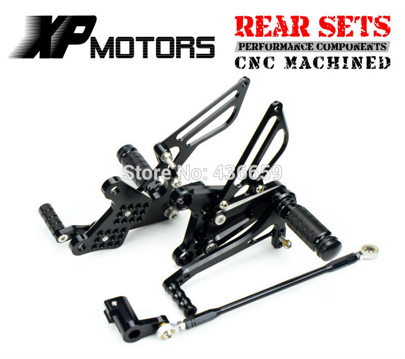 где купить Black CNC Racing Rearset Foot Pegs Adjustable Footrest For Honda NSR mini NSR80 All Years дешево