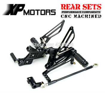 Black CNC Racing Rearset Foot Pegs Adjustable Footrest For Honda NSR mini  NSR80 All Years
