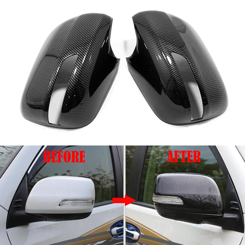 ABS Carbon Fibre For Toyota Prado FJ150 FJ 150 2010/11/12/13/14/15/16/17/18 Side Door Rearview Mirror Cover Car Accessories 2PCSABS Carbon Fibre For Toyota Prado FJ150 FJ 150 2010/11/12/13/14/15/16/17/18 Side Door Rearview Mirror Cover Car Accessories 2PCS