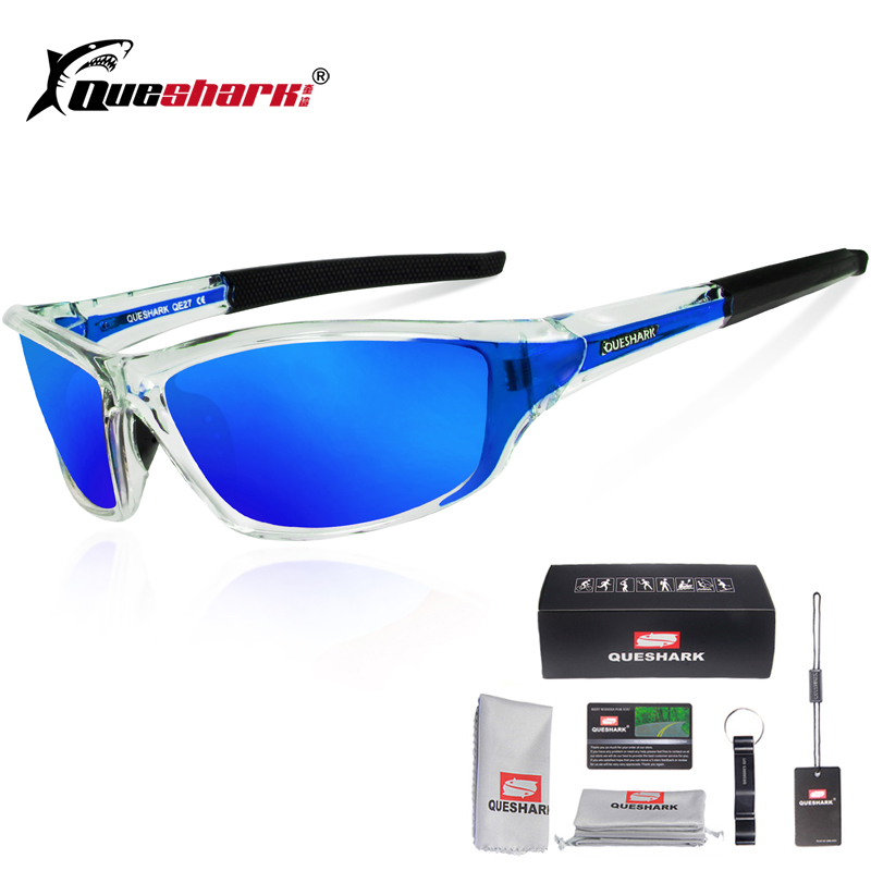 Queshark UV400 Polarized Cycling Glasses Sports Bicycle Sunglasses Bike Glasses Ski Goggles Fishing Cycling Hiking Eyewear 1