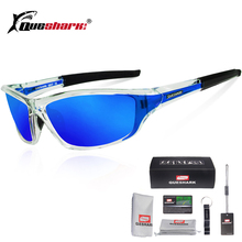 Queshark UV400 Polarized Cycling Glasses Sports Bicycle Sunglasses Bike Ski Goggles Fishing Hiking Eyewear