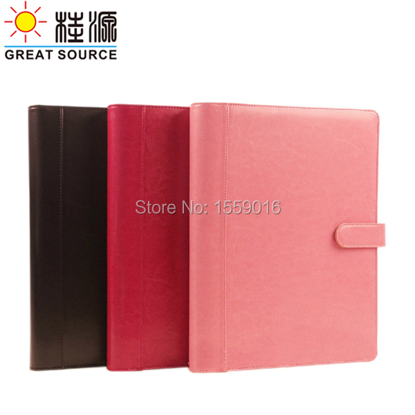 Great Source A4 conference folder padfolio magnet hasp 4 rings folder with 8 digits calculator folder business padfolio portfolio with letter size writing notepads deluxe executive vintage brown leather padfolio new