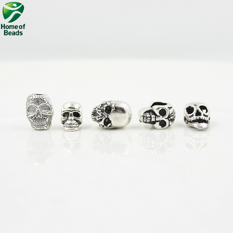 Ξ2017 mode squelette Humain antique alliage d argent bijoux mixte ... 4025a7a2dc5