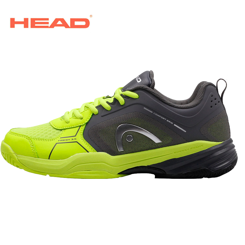 HEAD Tennis Shoes For Men Outdoor Sneakers Breathable Training Shoes Men Sport Athletic Shoes Top Quality Tennis Shoes Size 44 peak sport men outdoor bas basketball shoes medium cut breathable comfortable revolve tech sneakers athletic training boots