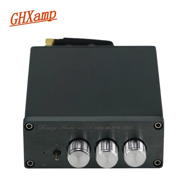 TPA3116 100 Вт * 2 Bluetooth цифровой усилитель, аудиомашина, автомобильный домашний кинотеатр с преусилителем, тоновый твитер, регулировка басов, DC24V