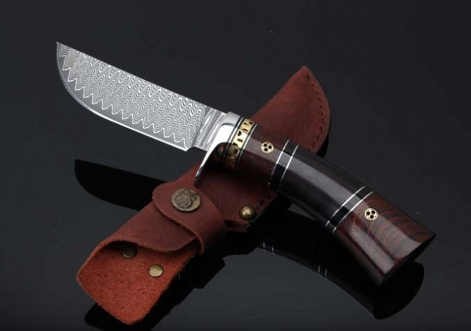 Buy Colletion Damascus Knives Outdoor Fixed Blade Knife Survival Straight Knives Camp Hunting EDC Tools Best Quality cheap