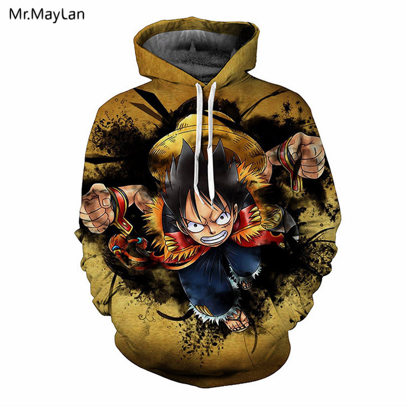 Reasonable Japanese Anime One Piece 3d Hoodies Men Women Hooded Sweatshirts Spring Outerwear Unisex Monkey D Luffy Cool Polluver 3xs-5xl Men's Clothing