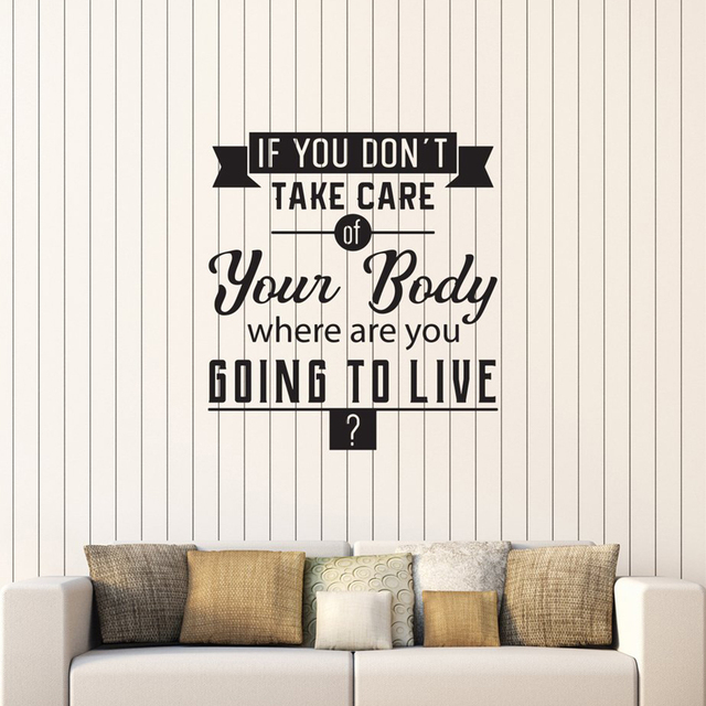 Healthy Quote Wall Decal Stickers Spa Salon Gym Medical Office Wall