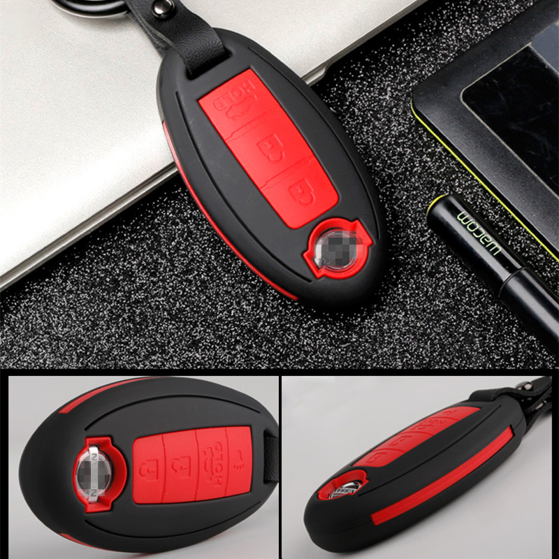 Image 5 - Carbon stripe Matte texture car key cover case for Nissan Qashqai J10 J11 X Trail t31 t32 kicks Tiida Pathfinder Murano Note-in Key Case for Car from Automobiles & Motorcycles