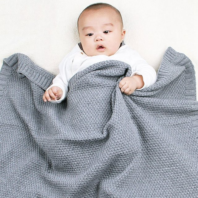 MOTOHOOD Kids Blanket Casual Baby Blankets Knitted Newborn Swaddle Wrap Soft Toddler Sofa Crib Quilt Baby Stroller Blanket (11)