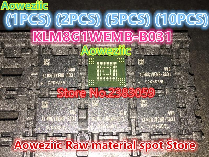 Aoweziic (1 PCS) (2 PCS) (5 PCS) (10 PCS) 100% new original KLM8G1WEMB-B031 BGA puce de Mémoire EMMC 8 GB KLM8G1WEMB B031