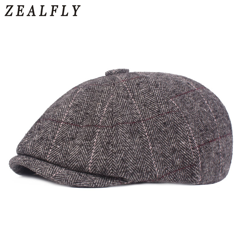 Peaky Blinder Herringbone Men Beret Fashion Vintage Herringbone Octagonal Cap Casual Woman Flat Cap Pumpkin Hat 2019 New