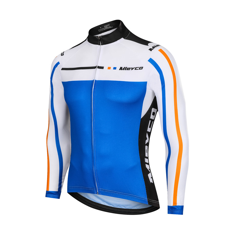 Men/'s Long Sleeve Cycling Jersey Blue FIOLLA STF-Flow Prototype
