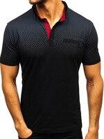 Брендовая мужская летняя футболка с короткими рукавами с 3d принтом, 95% хлопок, высококачественная повседневная модная футболка поло подста...
