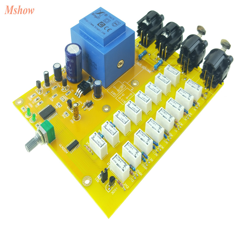 HiFi Passive Preamp XLR Balanced Potentiometer Advanced Relay Volume Controller Balanced preamplifier board for HIFI Audio