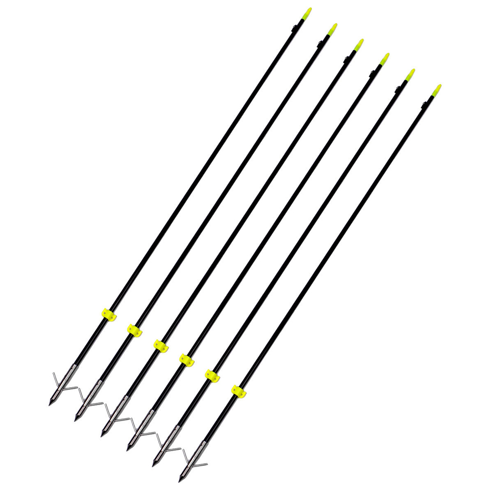 "Image 5 - 3/6/12 pcs Professional 35"" Long Bow Fishing Shooting Arrows 8mm Fiberglass Shaft Arrows for Compound/Recurve Bow B-in Bow & Arrow from Sports & Entertainment"