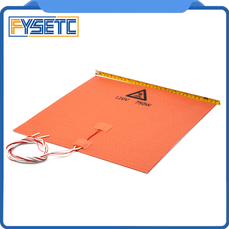 1PC Silicone Heater Pad 330x330mm 120V 750W Silicone Heater Mat For Tronxy X5S 3D Printer HeatBed Upgrade With Adhesive цена