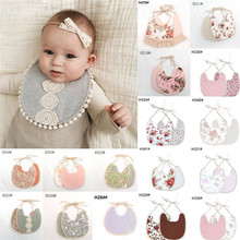 PUDCOCO 1PC Newborn Baby Boys Girls Cute Saliva Towel Feed e Cotton Bibs  Dribble Bandana Scarf