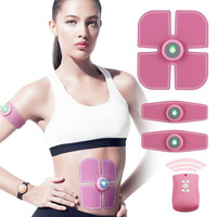 EMS Wireless Muscle Stimulator Fitness Abdominal Training Device Electric Weight Loss Stickers Body Slimming Belt For