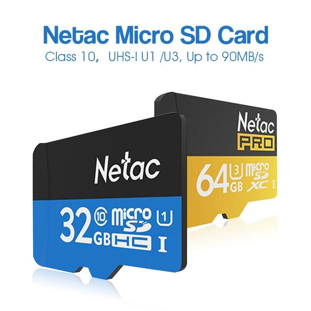 100% оригинал netac p500 карта micro sd uhs-i sdxc u3 128 ГБ 64 ГБ U1 32 ГБ 16 ГБ Флэш-Памяти TF Карта SDHC Карты быстрее, чем Class10