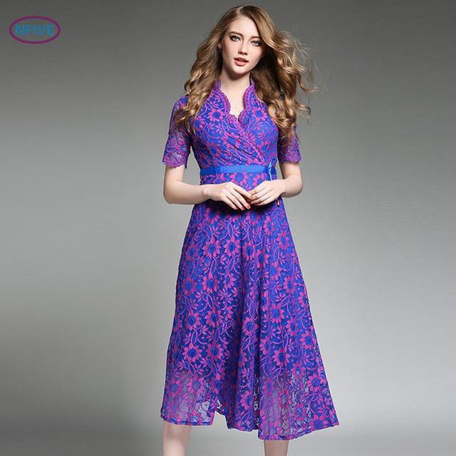 844041a839 Nfive marca 2017 novas mulheres da moda europa e américa qualidade roupas  de verão longos vestidos