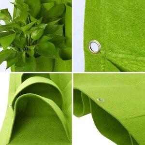 Image 4 - 垂直ガーデンプランター、壁植樹バッグハンガー屋外屋内野菜花成長容器ポット (9ポケット