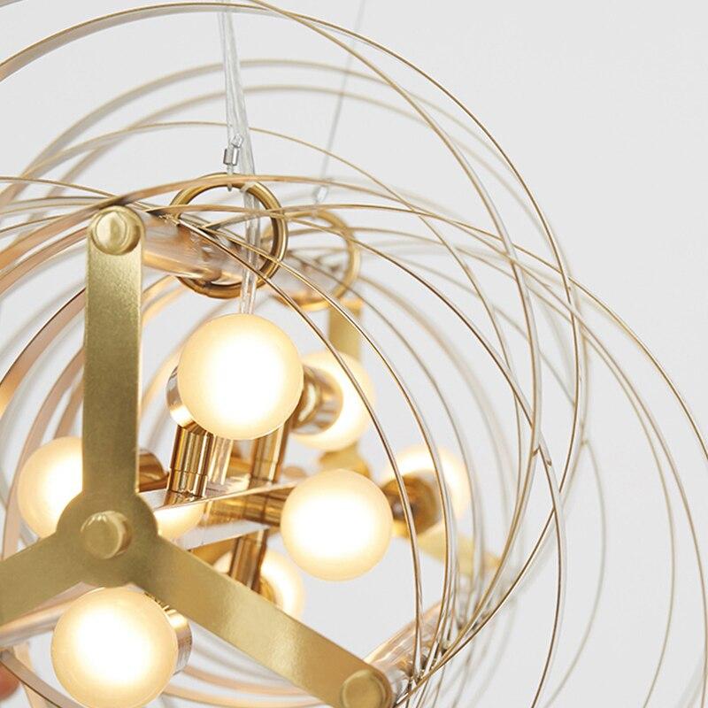 LED Pendant Light Modern for Living Room Bedroom Home Decoration Hanging Lamp Design Creative Art Indoor Lighting Fixtures Gold