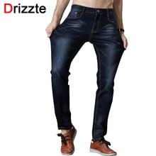 Drizzte мужские джинсы высокого стретч мода черный синий джинсовый бренд мужчин slim Fit Джинсы Размер 30 32 34 35 36 38 40 42 Брюки жан(China (Mainland))