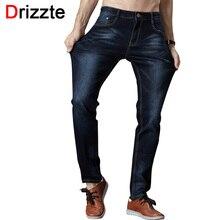 Drizzte мужские джинсы высокого стретч мода черный синий джинсовый бренд мужчин slim Fit Джинсы Размер 30 32 34 35 36 38 40 42 Брюки жан