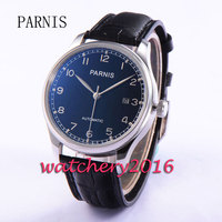 43mm Parnis Black Dial Silver Mark Latest Automatic Movement Men S Date Watch 24A