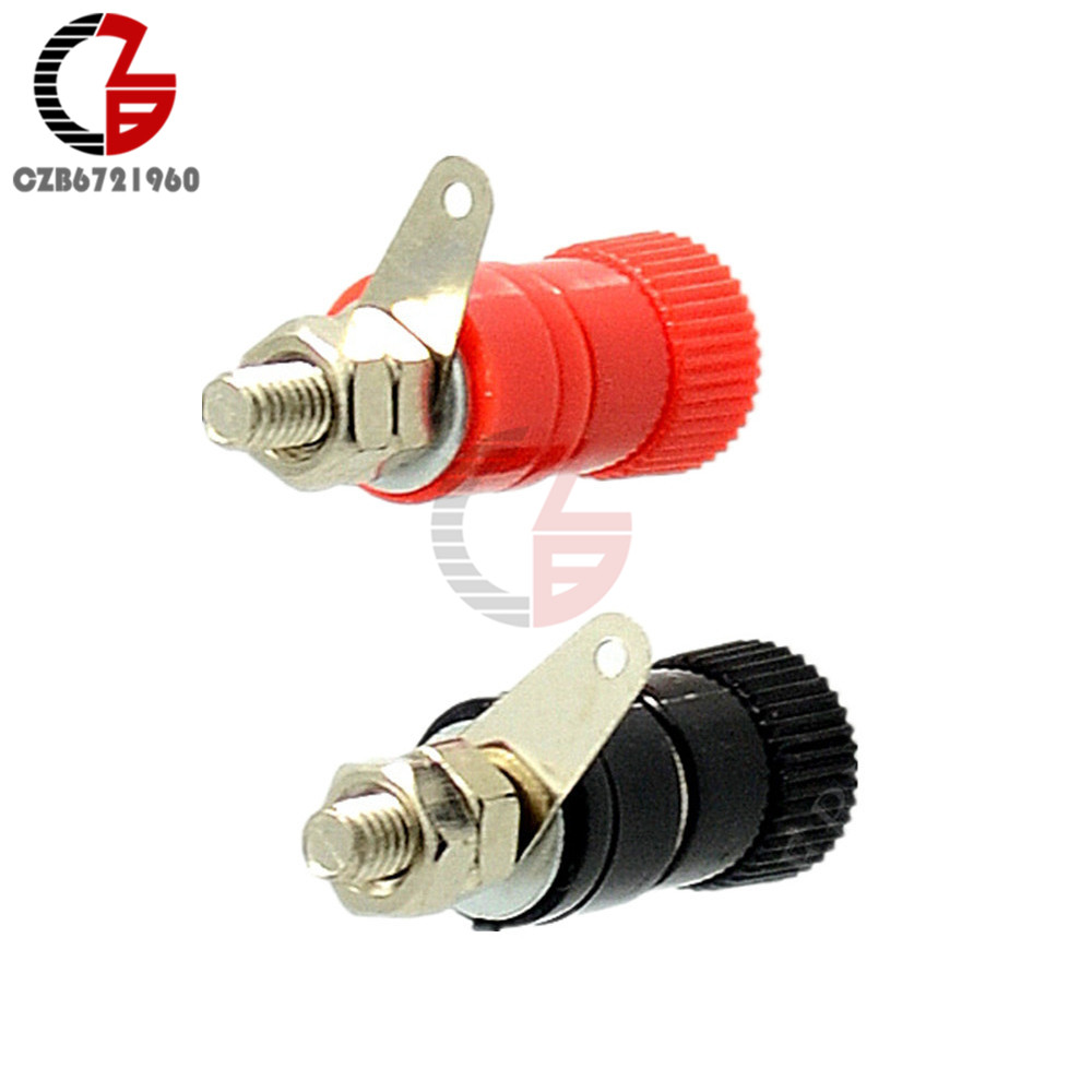 5Pairs 10PCS JS-910B 4mm Banana Plug Jack Socket Female Binding Post For Speaker Audio Terminals Spl