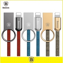 Baseus 100 СМ Прочный Сплав Цинка Нейлон Свет USB Кабель Для Кабеля Молнии для iPhone 7 6 6 S Плюс 5S SE Быстрой Зарядки Синхронизации Данных