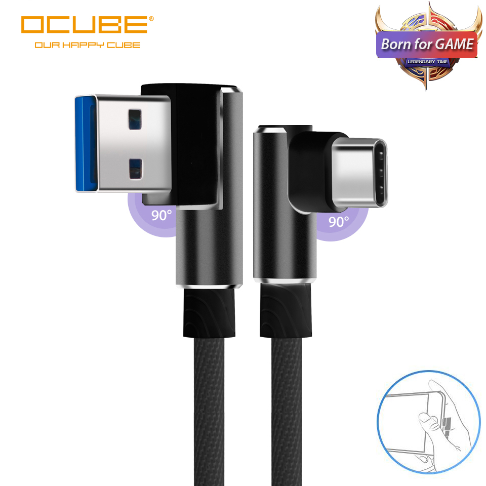 Usb Type C Cable 90 Degree For Samsung Note 10 A70 A40 S10 S9 S8 Usb C Charger Cord Fast Charging Usbc Type-c Cable Usb-c Wire(China)