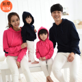 Hoodies Clothes Casual Family Clothing  Mom Daughter Clothes Father Son Matching Clothing Family Style Set Pink Navy XZ86