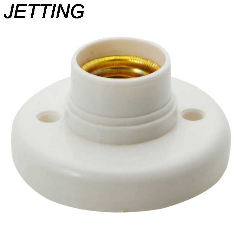 E27 Socket Lamp Base Holder Bulb Adapter Round Screw LED Light Fixing Fitting E27 Socket Connector Plug