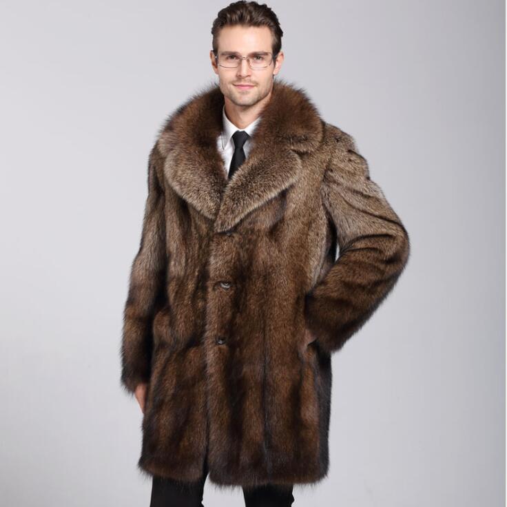 87f8937da1de Autumn faux mink leather jacket mens winter thicken warm fur leather coat  men loose jackets jaqueta