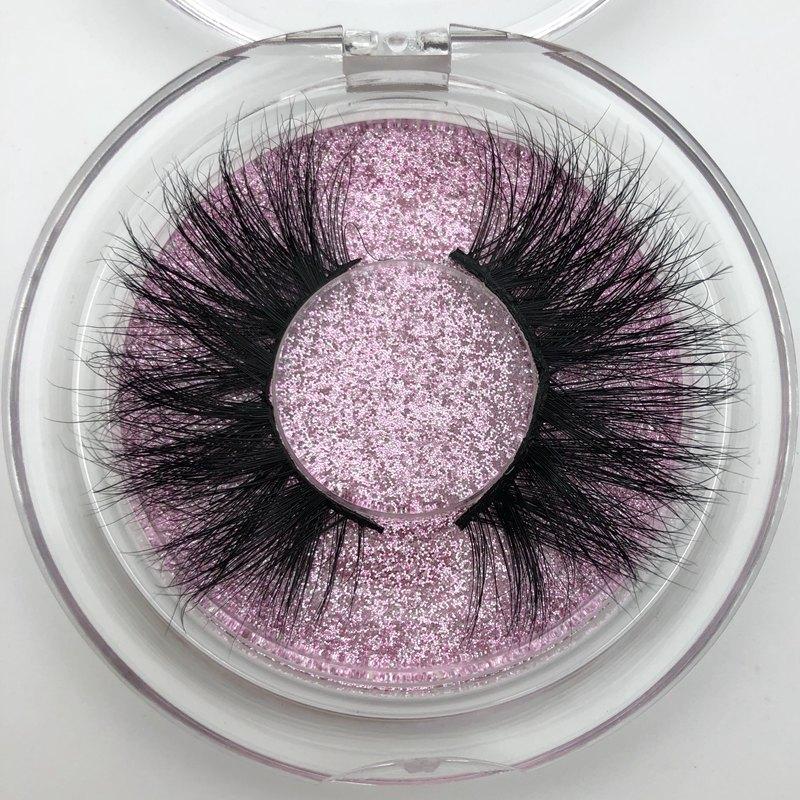 Mikiwi 25mm Long 3D Mink Lashes E01 Extra Length Mink Eyelashes Big Dramatic Volumn Eyelashes Strip Individual False Eyelash