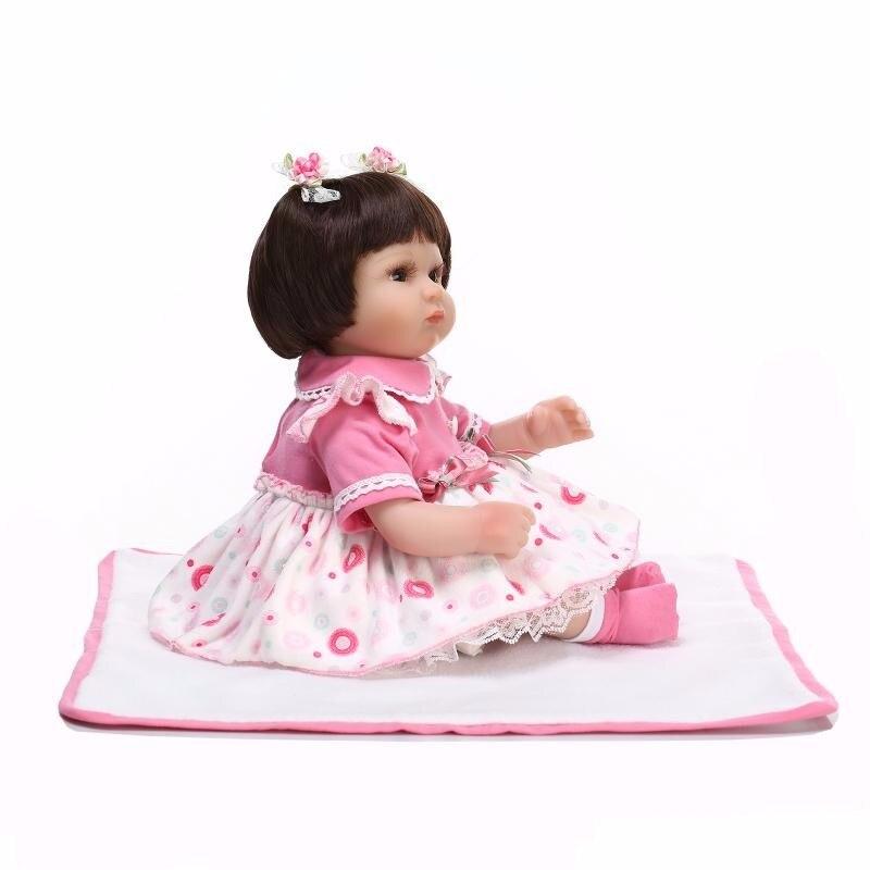 42 cm rose princesse Main bebe en vie Souple En Silicone Reborn bébé poupée Jouets Bébé lol d'origine mignon poupée enfants cadeaux collection - 5