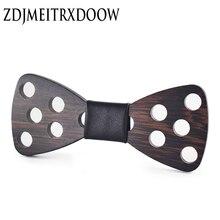 2016 новый бренд дизайн мода ручной работы деревянные галстуки-бабочки Боути бабочка Гравате галстуки для мужчин СДЕЛАЙ САМ дот мужские деревянные галстук