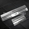 Car Kia Rio stainless steel scuff plate door sill 4pcs/set car accessories for KIA RIO 2007-2014 Free shipping