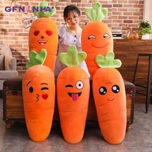 1 шт. 45/70 90 см, Чулочные изделия с рисунком улыбающегося плюшевая морковка милые плюшевые игрушки Моделирование растительное Подушка-Морковка куклы мягкие игрушки для Детский подарок