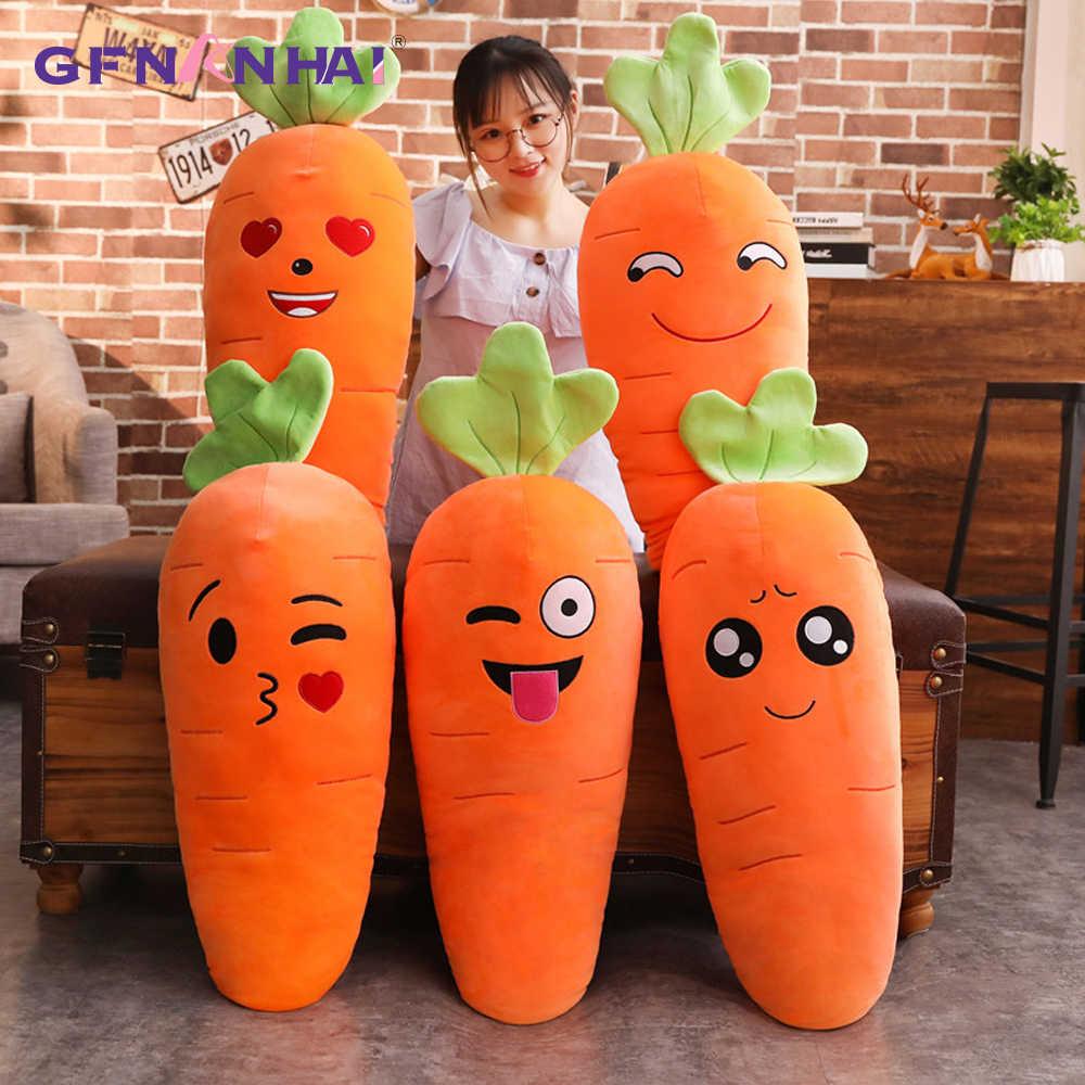 1 шт. 45/70 90 см, Чулочные изделия с рисунком улыбающегося плюшевая морковка милые плюшевые игрушки Моделирование растительное Подушка-Морковка куклы набивные игрушки для Детский подарок