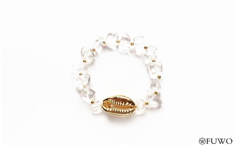 Cowrie Clear Quartz Bracelet 7